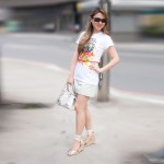 Look do Dia: T-shirt + Saia Jeans