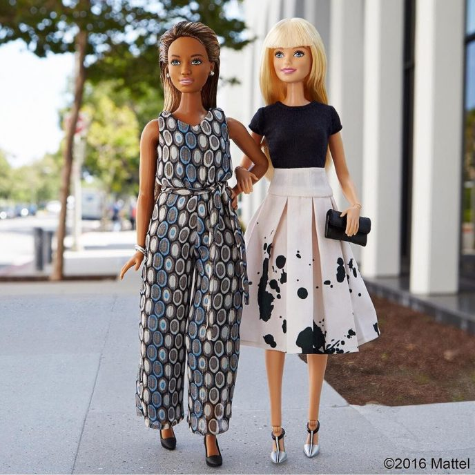 In sync and in style! Tag your most fashionable friend. ?? #barbie #barbiestyle