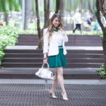 Look do Dia: Blaser com saia Verde