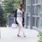 Look do Dia: Rose+Cinza e Preto