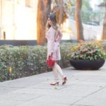Look do Dia: Vestido Rosê de Renda + Red