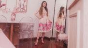 Look Rose Gold com Sandália de Tiras finas