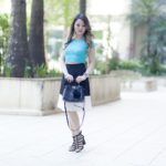 Look do Dia: Cropped + Saia P&B